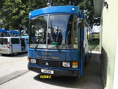 Tantivy 10 (Coco the Jerzee Busman) Tags: uk blue bus islands coach camo renault cannon jersey swift dennis tours dart channel leyland lcb plaxton tantivy