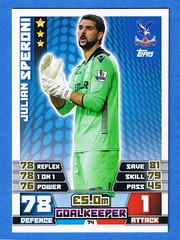 Julian Speroni - Match Attax collectors card (The Wright Archive) Tags: football julian sticker crystal palace card match collectors premiership goalkeeper attax speroni 201415