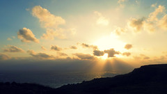sunrise.. (hailin.elle) Tags: ocean sea sky cloud sun seascape water clouds sunrise dawn asia outdoor hill taiwan   kenting godrays pingtung southerntaiwan