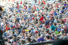 Lots going on (nugefishes) Tags: baseball crowd cedarrapids kernals