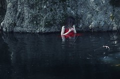 Taboo (Sus Blanco) Tags: woman selfportrait lagoon conceptual monthly taboo darkart coldwater