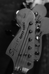 Super-Sonic (shortscale) Tags: guitar fender squier supersonic headstock jagstang
