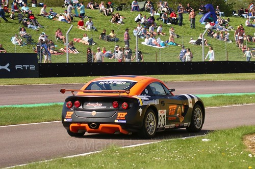 Daniel Harper in the Ginetta Juniors Race during the BTCC Weekend at Thruxton, May 2016