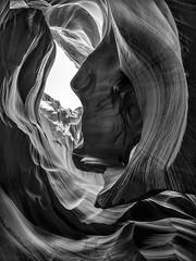Antelope Outlook BW (Paul Pryor) Tags: arizona bw panorama southwest vertical canon landscape sandstone desert canyon page antelope slotcanyons tiltshift lowerantelope vertorama tse24mmf35lii 5dsr