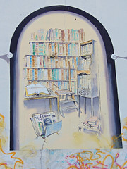 Book Art, Kirkland, Washington (teresue) Tags: washington books bookshelf wa publicart kirkland 2016