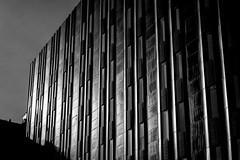Friends of the Borg (trm42) Tags: blackandwhite bw lines sunshine architecture suomi finland dark helsinki aurinko arkkitehtuuri heijastus tumma