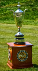 Sr. PGA Championship Trophy (mswan777) Tags: senior silver golf harbor championship nikon display michigan sigma tournament trophy pga 70300mm shores d5100