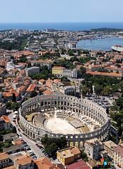 Ancient Rome. Amphitheatre of Pula, Istria, Italia (nowadays Croatia), 1st century CE (mike catalonian) Tags: croatia arena pula istria amphiteatre ancientrome 1stcenturyad