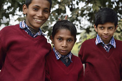 Different emotions (sanat_das) Tags: d800 portrait delhi mehrauli schoolboys expressions trio 28300mm