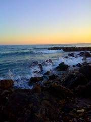 Playa (Almeria) (NoeliaFranco) Tags: sunset sea beach rock atardecer mar oleaje playa erosion turismo swell almera roca relieve marmediterrneo erosin cantosrodados orografa hidrologa geografafsica