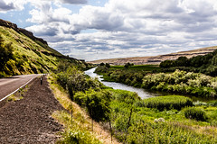 The 7th Wonder (Culinary Fool) Tags: palouse usa washington sevenwondersofwashingtonstate canyon water stream 2016 channeledscablands creek scablands roadtrip brendajpederson travel road photography river palouseriver culinaryfool hills may wa travelwa 2470mm28