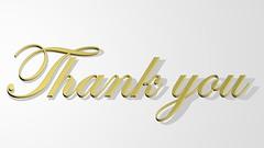 Thank you (Rareclass) Tags: shadow thanks gold 3d thankyou you thank creativecommons