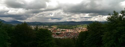 Panoramablick Füssen vom Kalvarienberg