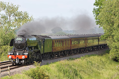 Flying Scotsman at Kilpeck Herefordshire (artjjames) Tags: man flying engine steam scots