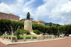 Bastia (France - Corse) (jaroslavhruska) Tags: sculpture france statue island boat ship corse oldtown francie bastia ostrov msto architektura lo moe cestovn desperadocz