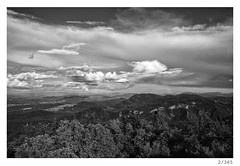 ljubljanska kotlina (Alja Ani Tuna) Tags: sky blackandwhite bw panorama white black nature clouds forest woods nikon 28mm year naturallight slovenia ljubljana 365 slovenija nikkor dailyphoto d800 2365 28mmf28 project365 photo365 onephotoaday nikond800