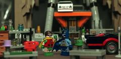 """Quick Robin, to The Batmobile!"" (Andrew Cookston) Tags: show stilllife macro classic robin comics photography dc tv batcave lego 1966 66 batman 1960s dccomics adamwest burtward 76052 andrewcookston"