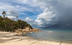 From One Extreme to Another (Jerry Fryer) Tags: storm clouds palms thailand kohsamui tropical approaching cumulonimbus 6d ef1635mmf4l