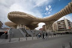 Plaza de la Encarncin (RaminN) Tags: wooden sevilla spain seville structure metropolparasol