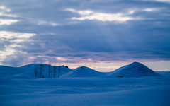 (dawvon) Tags: snowdunes iceland cloudy nordic landscape winter season nature skaftrhreppur kirkjubjarklaustur sky travel suurland europe godlight snow lveldisland republicoficeland southernregion churchfarmcloister sland south
