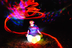 Abstract Zach (jna.rose) Tags: longexposure nightphotography pink blue light red abstract colors grass night dark balloons fire lights nikon colorful sitting glow artistic outdoor led nighttime slowshutter glowing lighttrails nikond80
