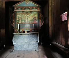 Borgund stavkyrkje (pienw) Tags: church painting middleages stavechurch crucifixion borgund stavkyrkje