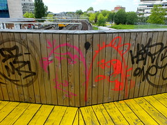 Graffiti (oerendhard1) Tags: urban streetart art graffiti rotterdam ominous vandalism omin narcoze luchtsingel