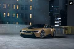 BMW i8 | ZITO ZS15 (ZitoWheels) Tags: bmw bmwi8 i8 goldbmwi8 zito zitowheels zitozs15 zs15 downtown la downtownla gold rooftop gintani modified customi8