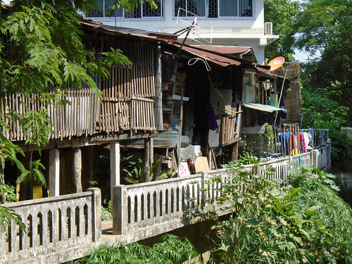 Houses along a canal