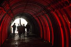 Salida Catedral de Sal de Zipaquir (David Puerta Carmona) Tags: colombia mina mine salt sal tunel red shadows rojo sombra silueta silhouette