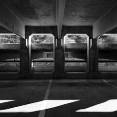 Garage (Baisao) Tags: bw 6x6 tlr film mediumformat blackwhite squareformat vintagecamera pyro 1951 ilfordfp4 281 ei160 rolleiflexautomat6x6modelk4a 3575mmtessar 3575mmtessartwinslensreflex rolleiflexmxmodel2 mfwnw