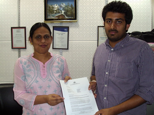 Director handling Australia Student visa to Sumit Mor