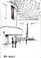 British Museum Great Court (nathan brenville) Tags: london sketchbook britishmuseum locationdrawings