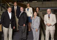 2015 Board of Trustees - Ralph Holm, Rodney McCray, Rosalie Kettler, Wayne Miles, Nick Stepchinski, Rachael Delago and Bennie Matthews (College of the Mainland History) Tags: 2015 2010s collegeofthemainland comhistory bot benniemathews