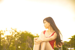 2 (AT.Photography) Tags: light sunset red portrait woman sunlight sexy love girl beautiful smile yellow lady wonderful print evening amazing model eyes singapore asia soft pretty colours slim legs bright sweet bokeh outdoor body great young longhair like attractive casual heel lovely staring longlegs facebook 6d 2015 2470 naturelight bodyshape gbtb atphotography ef2470mmf28liiusm