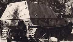Original photo of an Ferdinand tank destroyer on display.