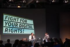 re:publica 15 Tag 3: Markus Beckedahl von netzpoltik.org kämpft unermüdlich für mehr Engagement.