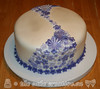 Lilac Bridal Shower Cake