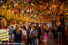 Market Square at Mi Tierras (Ann Jaber Photography) Tags: decorations food beautiful square restaurant waiting colorful market decorative culture tourist line mexican bakery historical hispanic mitierra pinatas elmercado sanantoniotx