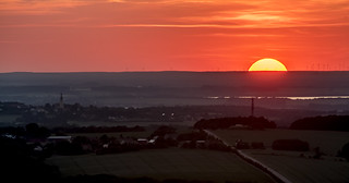 Sonnenuntergang über dem Bautzner Stausee