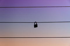 LockedLockLuck (BigWhitePelican) Tags: sky finland lock may silhouettes wires minimalism 2016 canoneos7d adobelightroom4