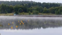 Misty River Aurajoki just above Rapid Halistenkoski (Halinen, Turku, 20150906) (RainoL) Tags: morning autumn mist weather fog finland river geotagged turku september fin aurajoki bo 2015 varsinaissuomi halistenkoski 201509 egentligafinland 20150906 geo:lat=6046508853 geo:lon=2230653813