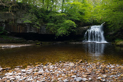 Tranquility (Lee~Harris) Tags: uk trees motion tree nature water beautiful waterfall rocks pebbles waterfalls flowing naturelovers flowingwater