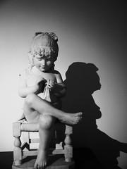 child and shade (Darek Drapala) Tags: light shadow blackandwhite bw sculpture art museum lumix blackwhite craft poland polska panasonic shade panasonicg5