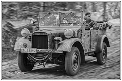 militracks 2016 (<<<< peter ijdema >>>>) Tags: monochrome 1 blackwhite pentax zwartwit german bmw ww2 325 k1 duits typ 2016 overloon kfz da50135 militracks httpwwwmilitracksnl