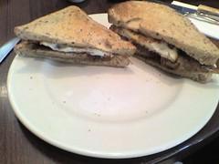 Breakfast (tikvah.) Tags: city friends food breakfast work restaurant office ketchup toast egg sausage plate soss