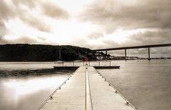 Bridge To Nowhere (garethleethomas) Tags: longexposure bridge sea colour water canon silver coast pier boat harbour smooth calm pontoon