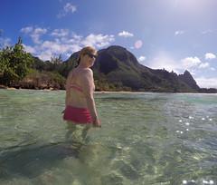 Darcy Keller at Haena Beach, Kauai (Drew Keller) Tags: beach hawaii kauai haena 2016