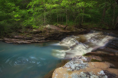 """Bowman Hollow Cascade w/ Swirl (SPS Nature """"Photography"""") Tags: blue green fall nature water beautiful creek waterfall earth scene arkansas secluded ozarknationalforest rogerchavers spsnaturephotography"""