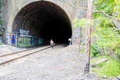 Ilchester (6-11-16)-002 (nickatkins) Tags: longexposure railroad bridge sky water graffiti bridges rail tunnel bluesky ironbridge rails railroads